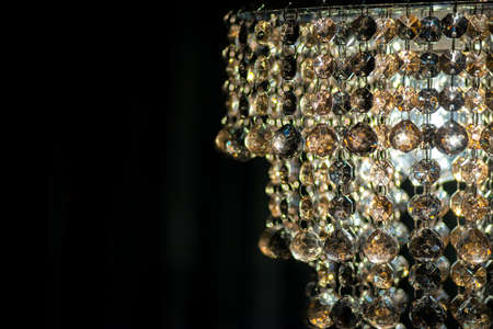 Hanging glass beads of ornate chandelier with copy space stock photo hanging glass beads of ornate chandelier with copy space stock photo 23839820 aloadofball Image collections