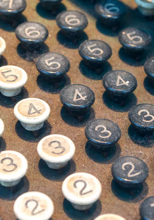 Close Up of Old Fashioned Numbered Keypad photo