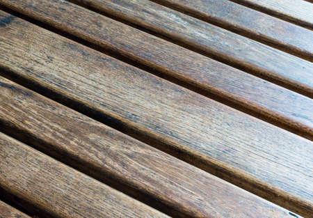 diagonally: Diagonally Slatted Wooden Table