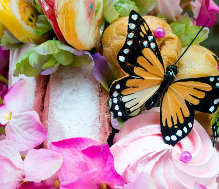 Fake Butterfly in Candy Assortment Selection