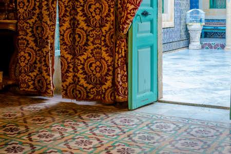 Doorway, Floor and Interior of Arabic House  photo