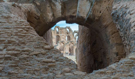 El Djem Roman Amphitheatre in Tunisia Stock Photo - 29656055