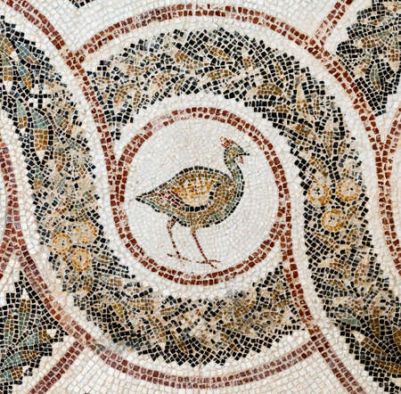 Small Tiled Colorful Mosaic from Ancient Rome photo