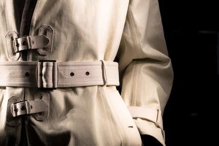 私服警官レトロ スタイル トレンチ コート