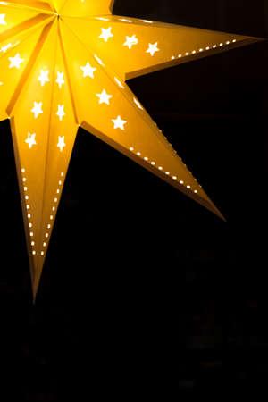 guiding light: Star Lantern Lampshade in darkness