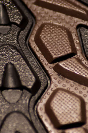 tread: Extreme Close-Up of Walking Shoe Tread Stock Photo