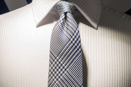 Smart and Clean White Business Shirt with Silver Grey Neck Tie