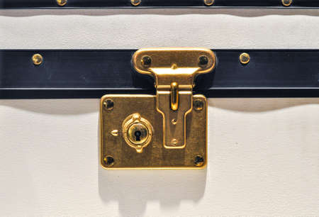 Traditional Clasp and Latch Luggage Lock photo