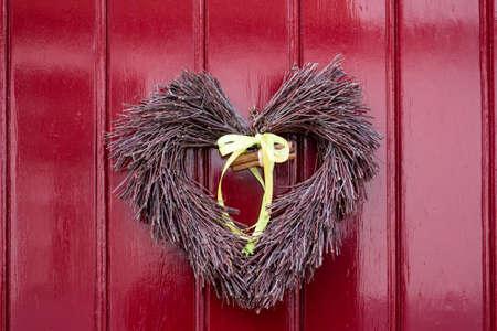 ハート形の玄関飾り