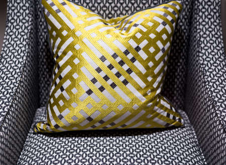arredamento classico: Sedia Splendidamente elegante con cuscino modellato Stylish Archivio Fotografico