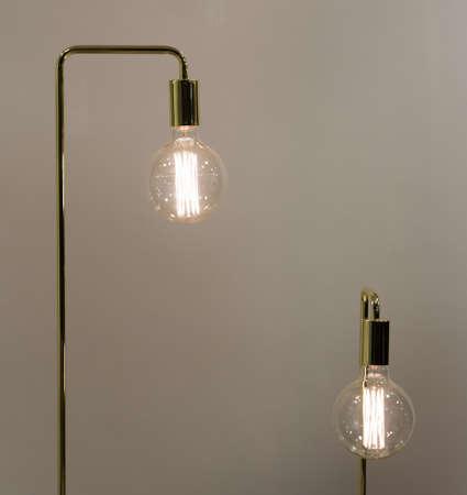 watt: Low Watt Tungsten Bulbs With Brass Fittings Stock Photo
