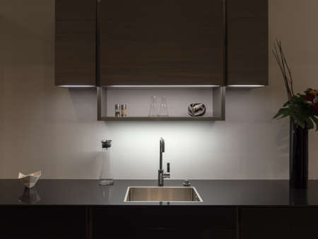 Sylish en Elegant Kitchen Counter Stockfoto
