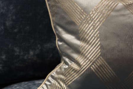throw cushion: Stylish and Elegant Throw Cushion on Velvet Chair