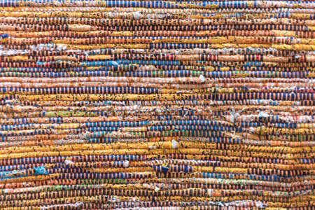 Woven wielobarwny dywan Rag Materiał tła