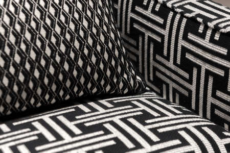 comfortable chair: Modern and Contemporary Pattern Design Soft Comfortable Chair and Cushions Stock Photo