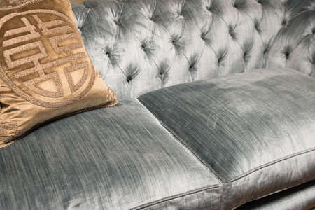 Expensive Pattern Cushions on Soft, Luxury, Comfortable Sofa