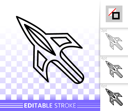 Mouse Cursor thin line icon. Outline web sign of arrow. Click linear pictogram with different stroke width. Simple vector symbol, transparent background. Mouse Cursor editable stroke icon without fill