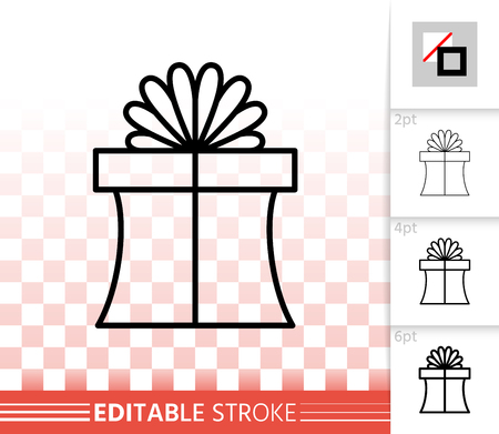 Romantic present linear pictogram with different stroke width.