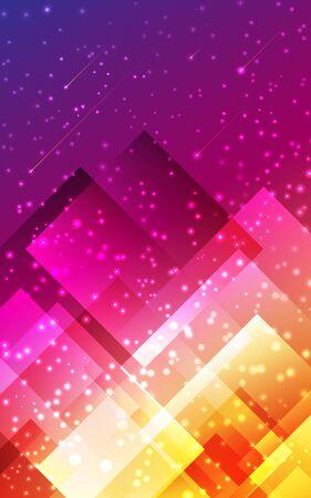 Futuristic modern abstract vertical background. Geometric graphic design pattern Poligonal shape purple pink yellow gradient wallpaper. Banner, flyer, poster, presentation template Vector illustration Standard-Bild - 133283581