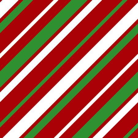Simple white green red strip line seamless pattern abstract background. Christmas season, birthday holiday gift paper wrap. Repeat ornament for fabric print, wallpaper decor. Flat vector illustration Standard-Bild - 134450932