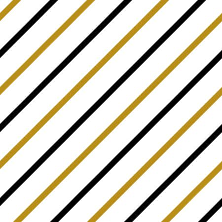 Simple gold black white strip line seamless pattern abstract background. Christmas season, birthday holiday gift paper wrap. Repeat ornament for fabric print, wallpaper decor. Flat vector illustration Ilustrace