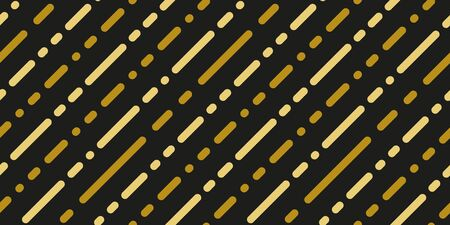 Simple gold black strip line seamless pattern abstract background. Christmas season, birthday holiday gift paper wrap. Repeat ornament for fabric print, wallpaper decor. Flat vector illustration