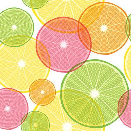 Citrus pattern orange, lemon and lime seamless pattern