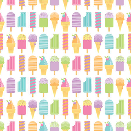 Seamless ice cream and  pattern background