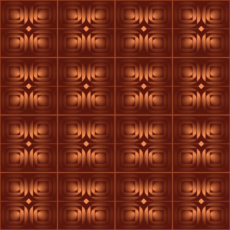 Seamless abstract background with brown squares in colour of a chocolate Vector