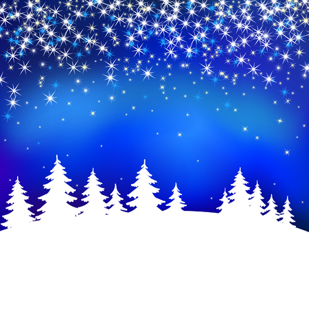 winter wish: Abstract blue vector background Illustration