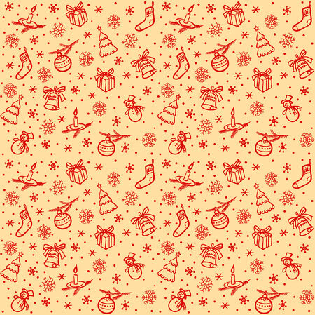 dekor: Christmas seamless light vector background
