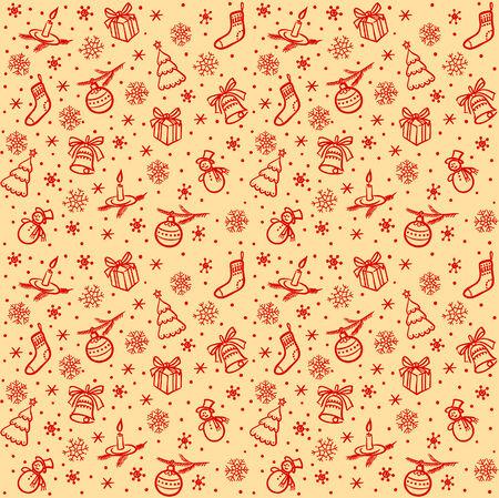 dekor: Christmas seamless light vector background