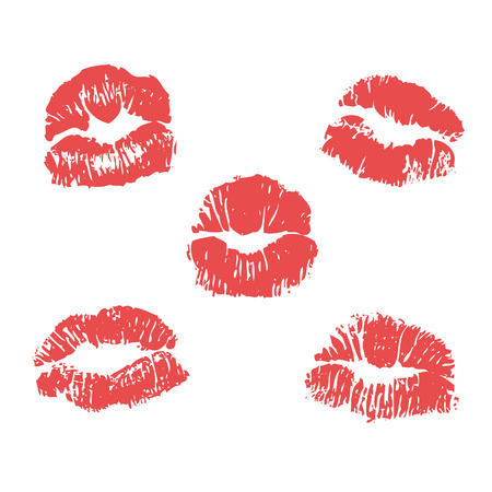 lipstick marks illustration Vector