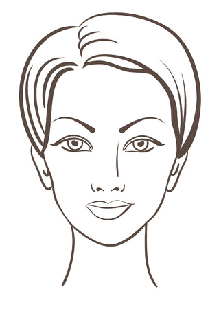 beautiful woman face for makeup design Vector