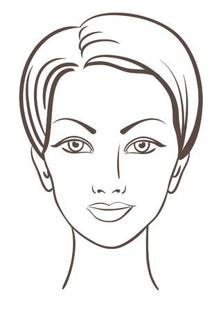 ksztaÅ't: twarz piękne kobiety do projektowania makijaż