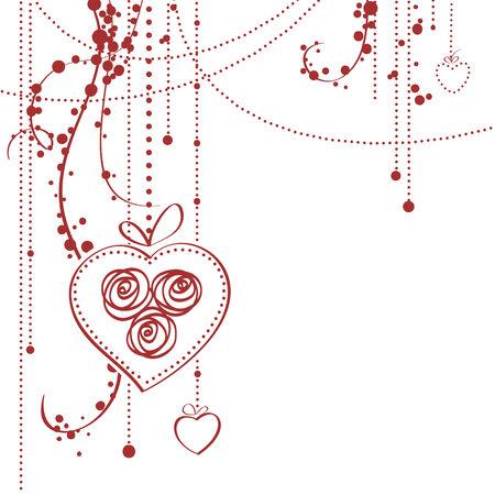 Valentine's day card  illustration Stock Vector - 6452821