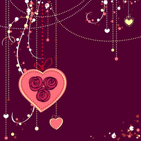 Valentine's day card  illustration Stock Vector - 6452820