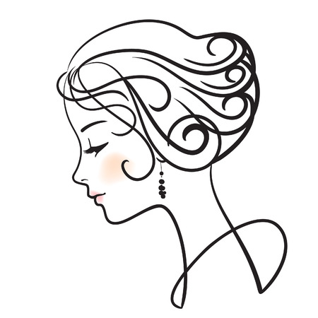 beautiful woman face vector illustration Stock Vector - 6526252