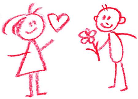 donna innamorata: uomo e donna