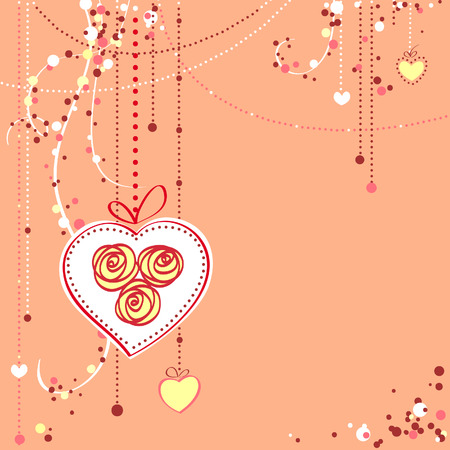 Valentine's day card Stock Vector - 6674657