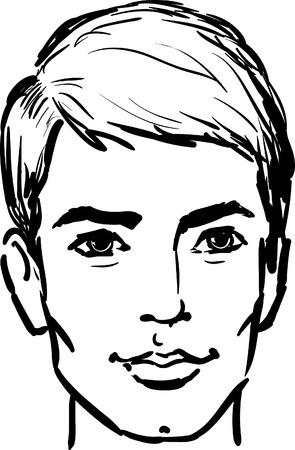 rosto: Homem novo atrativo Ilustra��o