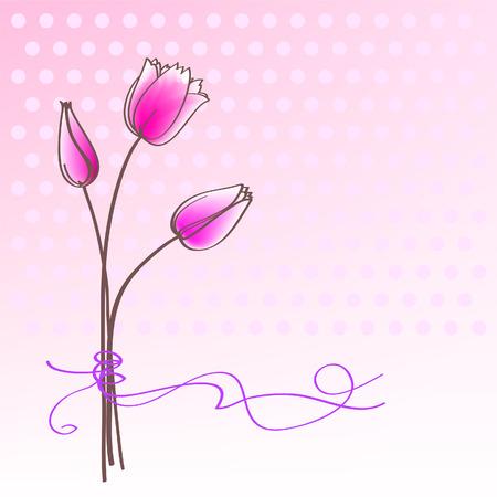 dekor: Greeting floral card