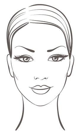 woman face: beautiful woman face Illustration