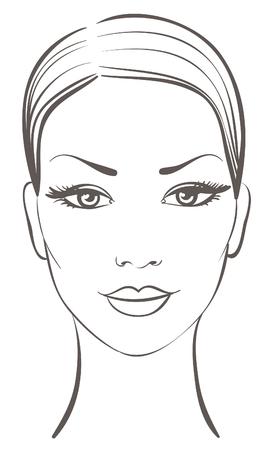 visage: belle femme face