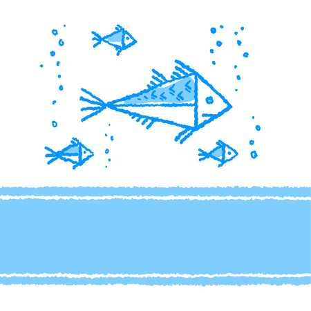 Vector card with fish  Vector
