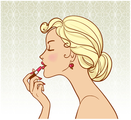 pin-up with lipstick  Vector