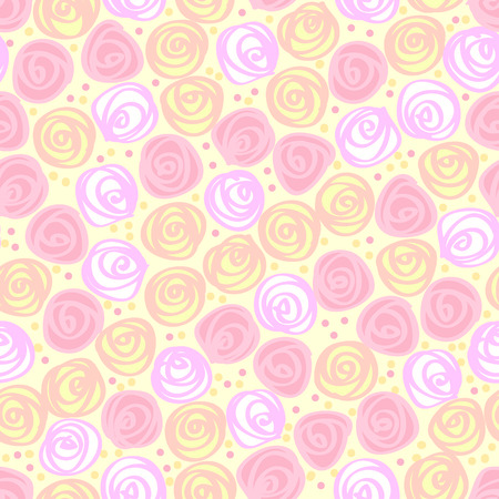seamless floral light  background Vector