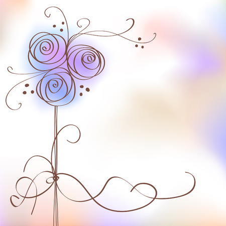 Floral background for text Stock Vector - 7700851