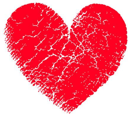 torn heart: Red heart