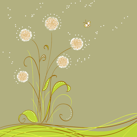 greeting card with flowers Stock Vector - 7700853